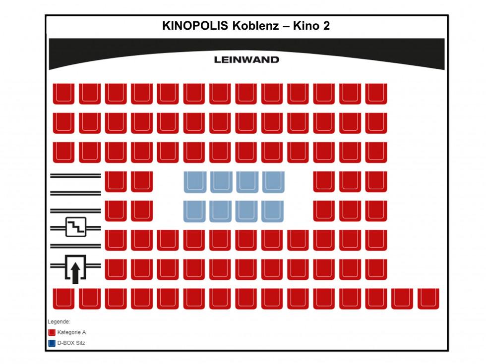 Saalinformationen Kinopolis Koblenz