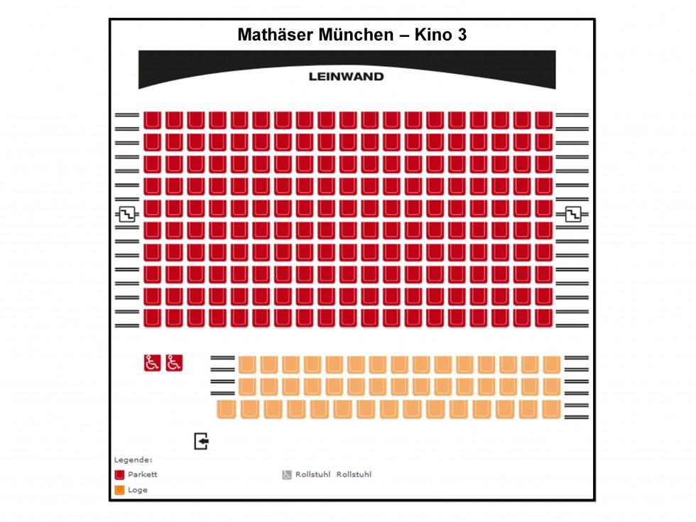 Saalinformationen Mathäser Filmpalast