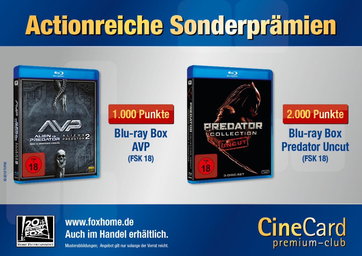CineCard Bonussystem – Prämien und Privilegien – Citydome Rosenheim