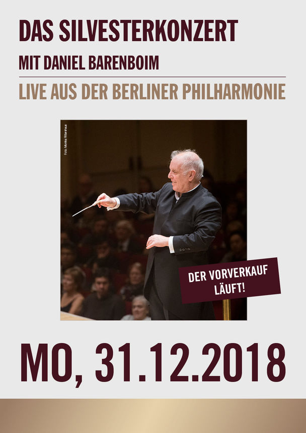 die berliner philharmoniker live das silvesterkonzert mit daniel barenboim kinoprogramm im. Black Bedroom Furniture Sets. Home Design Ideas