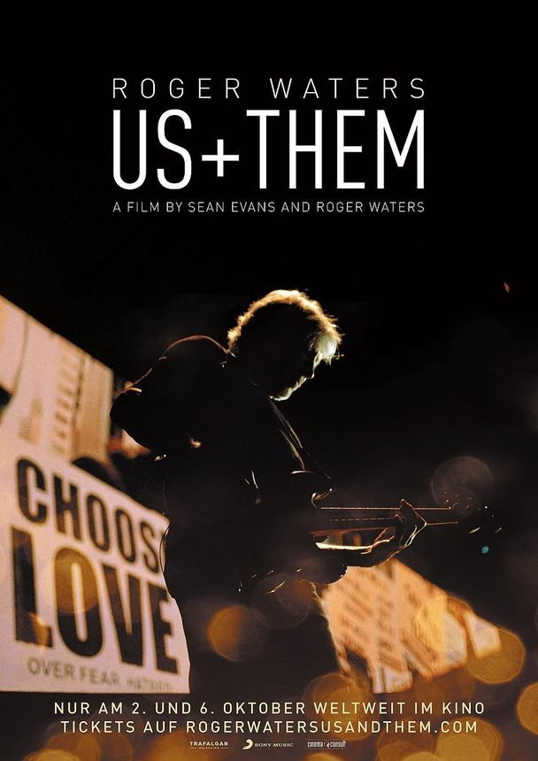 Plakat ROGER WATERS  US + THEM (engl.)