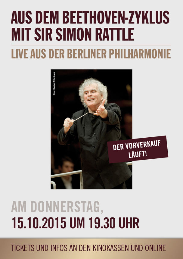 die berliner philharmoniker live aus dem beethoven zyklus mit sir simon rattle kinoprogramm. Black Bedroom Furniture Sets. Home Design Ideas